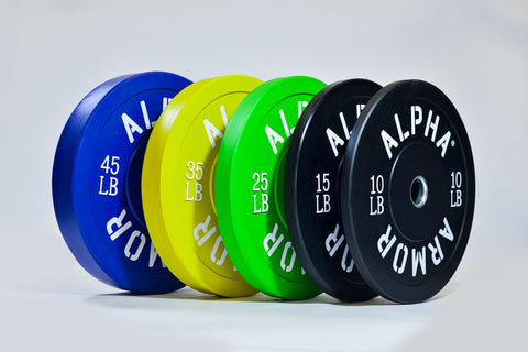 Bumper Plates Color Virgin Rubber Alpha Armor®