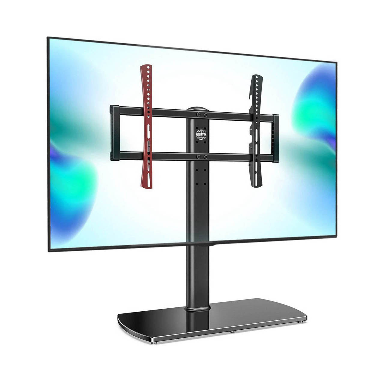Fitueyes Universal TV Stand Pedestal Base Wall Mount for 50\