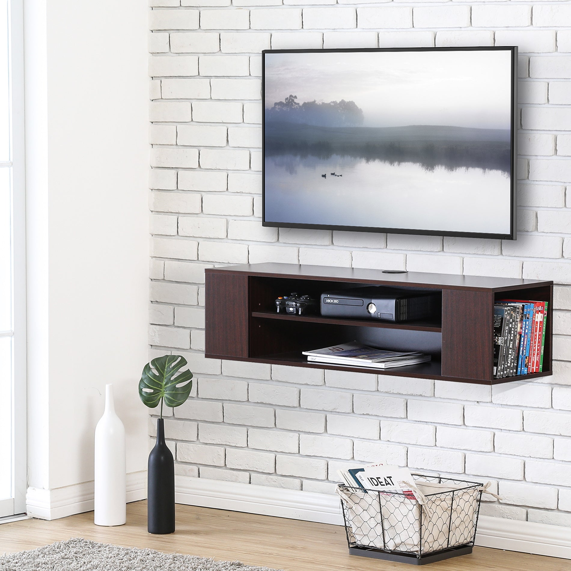 wall mount tv cabinet media console entertainment center tv stand rh fitueyes com
