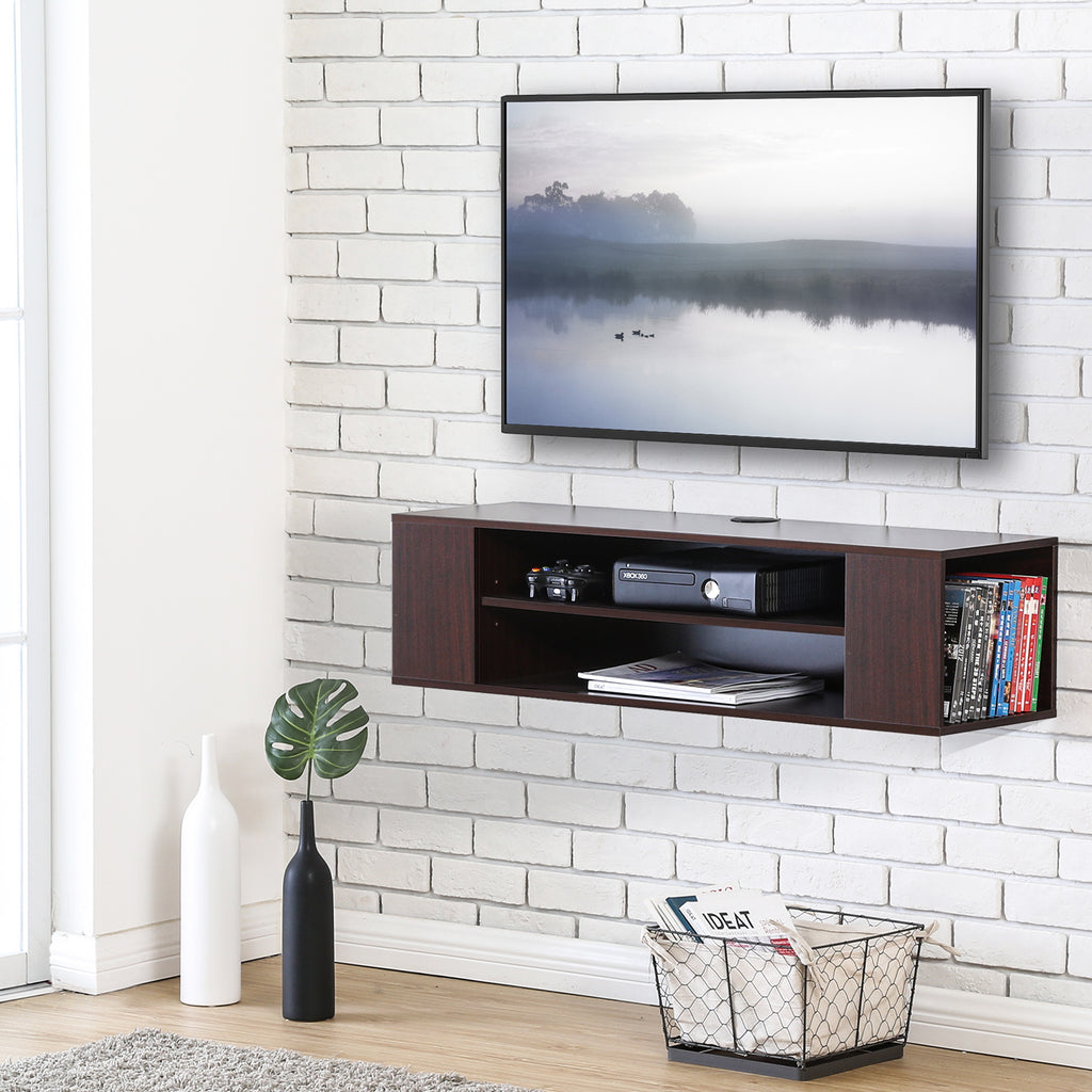 Floating TV stand Wall Mount TV cabinet Media Console Entertainment Center TV Stand -DS210001WB