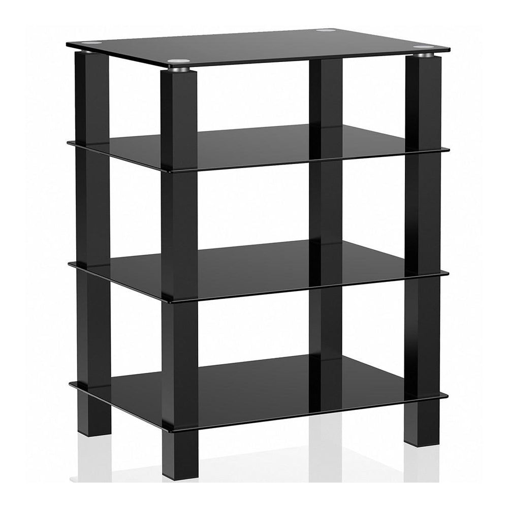 Merveilleux TV Media Stand Storage Tower Glass Shelves Storage For AV Components  Console LCD TV Table For Apple Tv Xbox One Ps4 AS406002GB