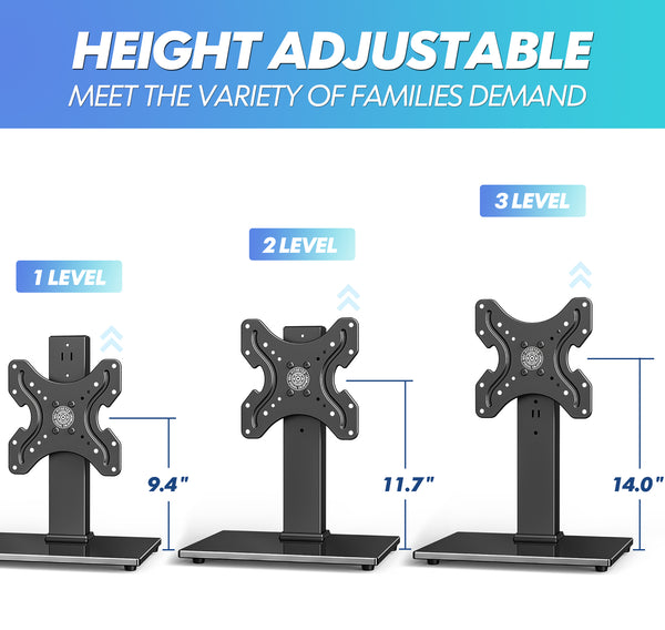 Fitueyes Universal Tv Stand Pedestal Base Wall Mount For