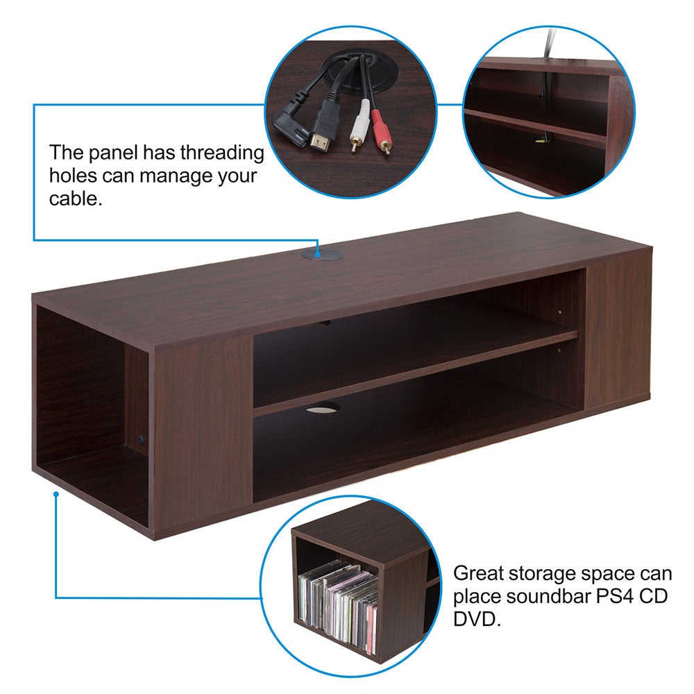 wall mount tv cabinet media console center tv stand floating shelf shelves ds210001wb