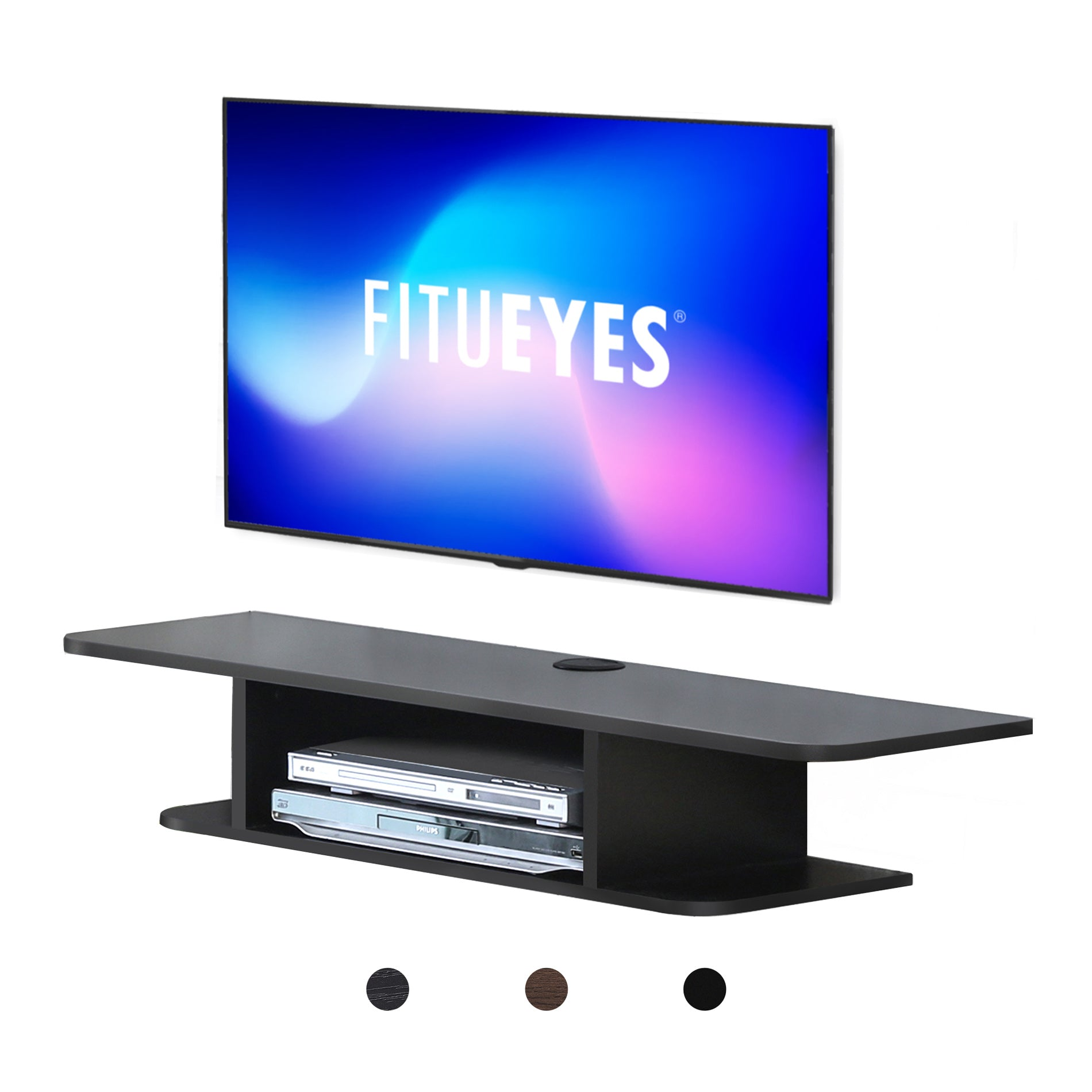 fitueyes tv stand entertainment center media furniture fit curved  - fitueyes tv stand entertainment center media furniture fit curved screen tvstand up to inch flat panel curved tvs load  lbs blacktsgb
