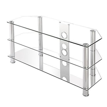 Fitueyes Glass Floor Tv Stand For Up To 50 Inch Samsung Vizio Plasma
