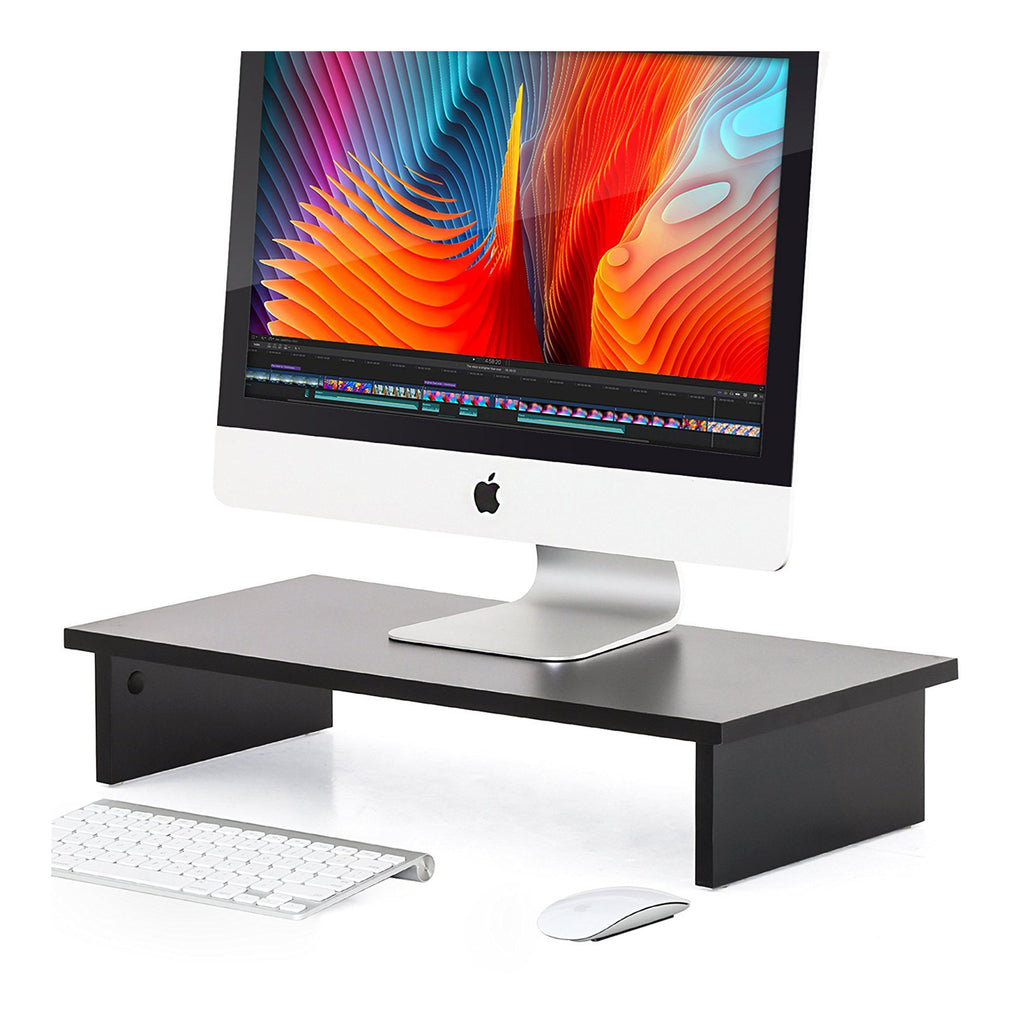 Computer Monitor Riser  laptop stand desktop riser 4.7'' High 23.6'' Wide Monitor Stand Wooden Desktop Stand-DT106001WB