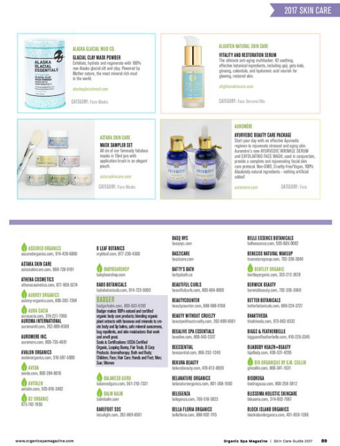 Organic Spa Magazine Serum Article