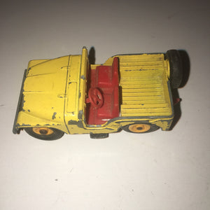 Vintage Cast Iron 1966 Vintage Matchbox Series No. 72 JEEP Willys CJ5 Yellow