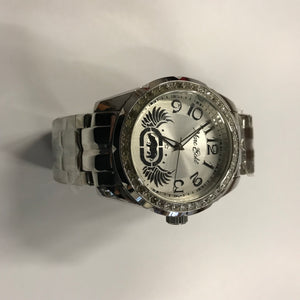 "NEW Marc Ecko MEN'S ""Rhino Logo"" Silver Stainless Steel Watch."