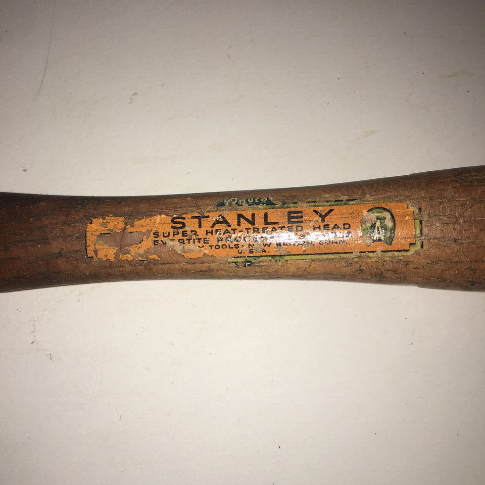 Vintage Stanley Tack Upholstery Hammer with sticker USA