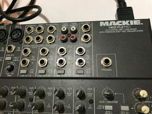 Mackie 1402-VLZ Pro 14-Channel Mic/Line Mixer w/ Power Cable Tested Working