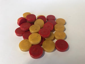 vintage set of Crisloid Bakelite backgammon checkers