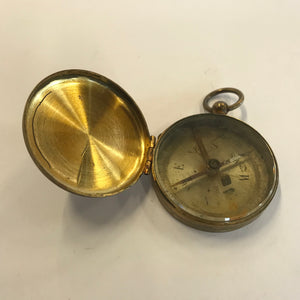 Vintage Military U.S. Compass WWII Brass Pocket Original Works MADE IN FRANCE