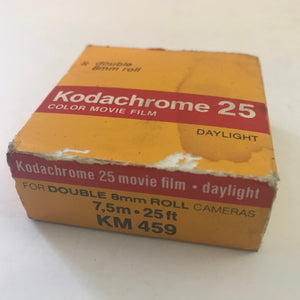 Vintage Kodachrome 25 Color Movie Film double 8 mm roll daylight KM 459 NOS