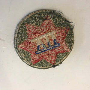 WW2 Patch - VII CORPS - WWII Shoulder U.S. Army Military Div 7 7th USA