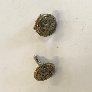 Early Royal Scots Greys Waterloo RSG 25.5mm Buttons by Firmin  made into Cuffs - Annzstiques