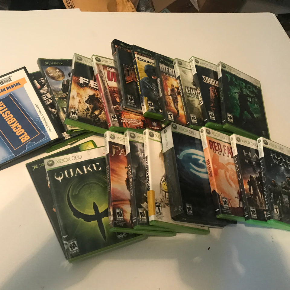 Huge Xbox X box 360 Lot Of 20 Games Call Of Duty Halo Turok and more Rarely Used - Annzstiques