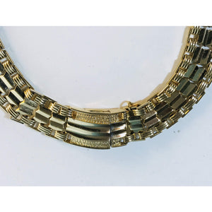 "Lovely Vintage Sarah Coventry Choker Length Necklace 15"" Gold Tone - Annzstiques"