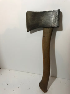 Vintage HATCHET Single Bit Axe Head Wood Handle Great Boy Scout Style