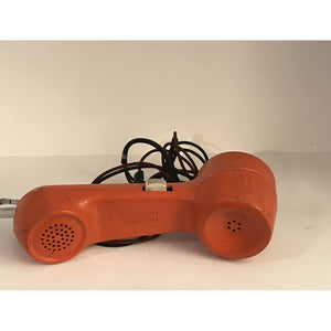 VTG Lineman Rotary Buttset Phone Orange Bell System Property Western Electric