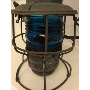 Old Vintage Southern Railway Lantern, Adlake, USA/Canada With A Rare Blueish Green Globe Missing the globe top