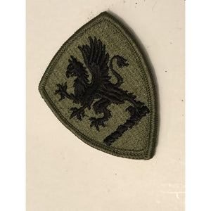 US Army Michigan National Guard ARNG OD Green & Black patch m/e
