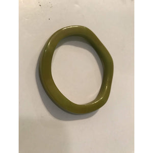Vintage Bakelite Bracelet! Marbled Lime Green/Yellow Colors
