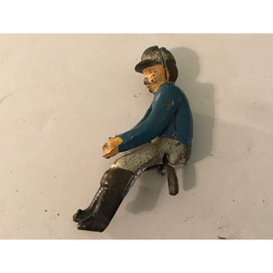 Antique Cast Iron Jockey Sulky Wagon Driver Toy Hubley, Kenton Original - Annzstiques