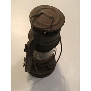 Vintage Antique Army Green Winged Wheel No. 350 Kerosene Lantern, Made in Japan, Rare Color