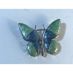 Beautiful Enamel Butterfly Brooch /Pin - Annzstiques