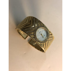 Ladies Embassy by GRUEN Gold Cuff Watch - Annzstiques