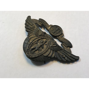 Vintage Our Lady of the Highways Pray Saint Christopher Protect Us Wings Clip