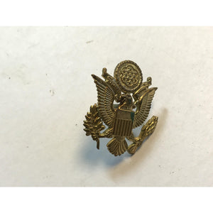 WWII U.S. Military Officer's Hat Badge Pin - Eagle