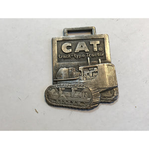 Vintage Caterpillar D7 Cat Track Type Tractor Advertising Watch Fob, Tag, Medal