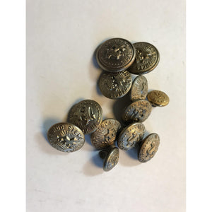 In Hoc Signo Vinces 12 Assorted Size Buttons Knights Templar MC LILLEY COLUMBUS, OHIO - Annzstiques