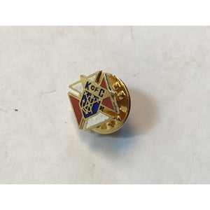 ORIGINAL K of C enamel vintage collectible fraternal organization historical pin