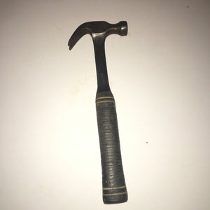 Vintage Estwing Carpenter's Curved Claw Hammer 16 Oz. Stacked Leather Handle USA