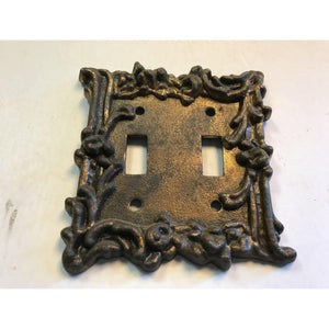 Vintage 1967 American Amer Tack ROSE LIGHT SWITCH PLATE COVER Double