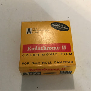 Vintage 1969 KODACHROME II Type A Color Movie Film Super 8mm 25ft Cartridge 1963
