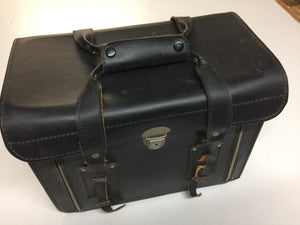 Vintage Black Leather Camera Case