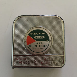 Vintage Disston White Chief Tape Measure #328 made by Carlson.