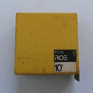 Vintage 10' Roe Measuring Tape # PC10