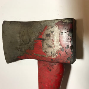 Antique Warren A & T Co big firemans axe collectible tool PA fire fighter ax - Annzstiques