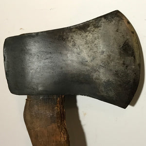 Antique Plumb Single Bit Axe With Handle, Vintage Wood Chopping Axe - Annzstiques