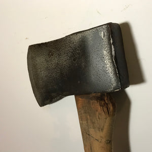 Old Plumb Single Bit Axe With Handle, Vintage Wood Chopping Axe
