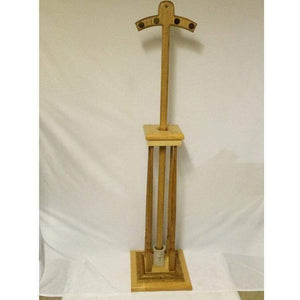 Orthodox Bishop's Crosier Solid Oak wood with inlay and holder