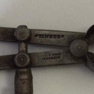 "Vintage Yankee Spring-Type Outside Calipers 4 1/4"" marked patented June 2 1885"