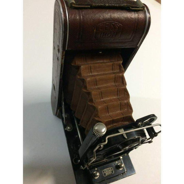 "Working Vintage folding camera Zeiss Ikon Cocarette W/ ""Dopel Anastigmat Litonar 1:4,5 F=10 EXCELLENT!! Very Rare Brown Camera with Brown Be"
