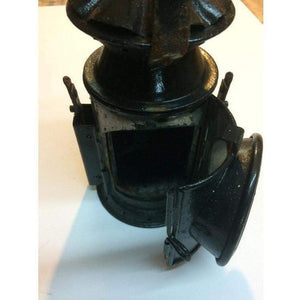 Vintage British Vaporite hand lantern, WW2 Marked C. Eastgate & Son 1944