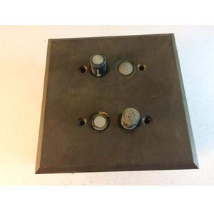 Antique double push button light switches vintage steampunk 1915 - Annzstiques